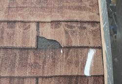 スレート屋根材剥がれ補修ビフォア
