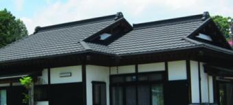 シックで落ち着いた屋根の風雅(漆黒)