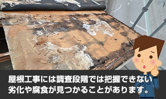 調査では把握不可能な劣化した屋根