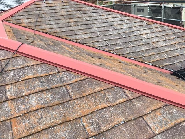 茶錆が出ているパミール屋根