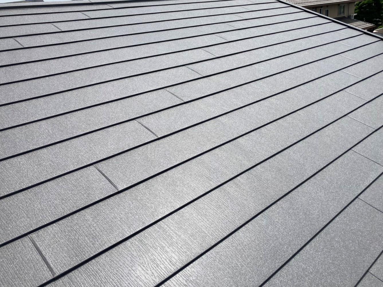 スーパーガルテクトで葺き替えた水戸市の屋根