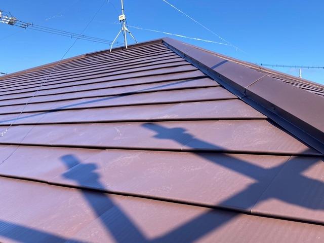 ガルバリウム鋼板での屋根リフォームが完成