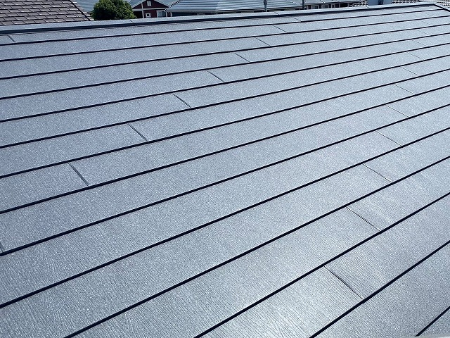 スーパーガルテクトで葺き替えした水戸市の屋根