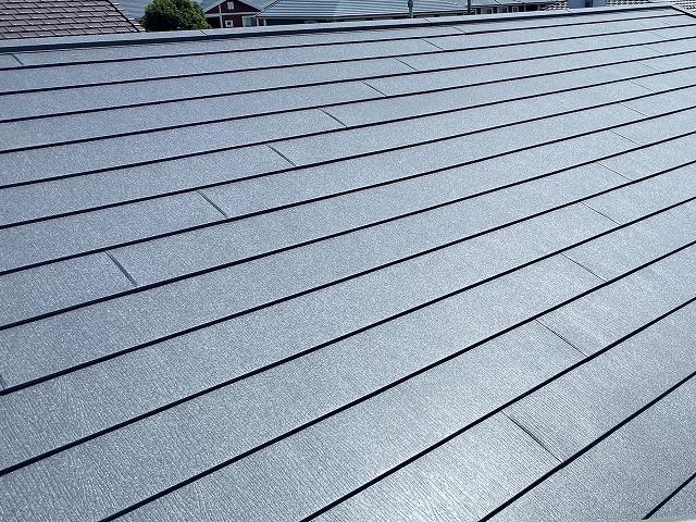 アイジー工業のスーパーガルテクトで葺いた水戸市の屋根