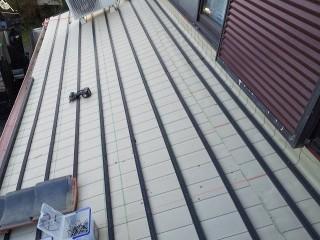 新しく屋根下地を形成した、ひたちなか市の現場