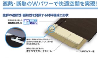 ガルバリウム鋼板の遮熱と断熱を解説した画像
