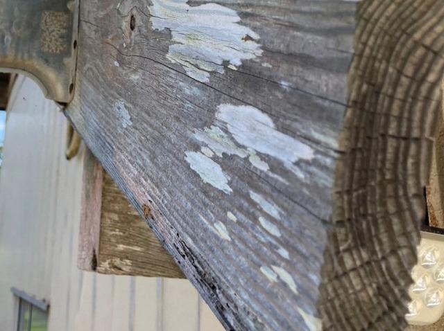 木製破風板のアップ画像