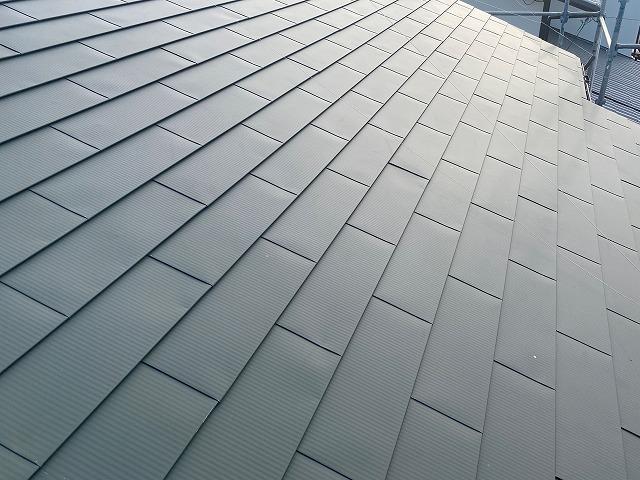ガルバリウムカバー工事を行った那珂市の屋根