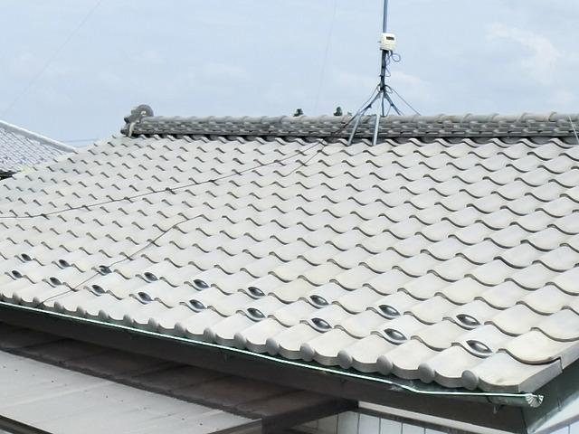 和瓦屋根のイメージ風景画像