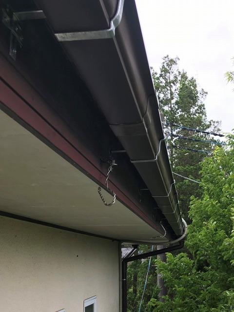 雨樋を交換し機能が回復した、ひたちなか市の現場雨樋