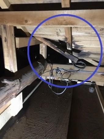 屋根裏天井調査②