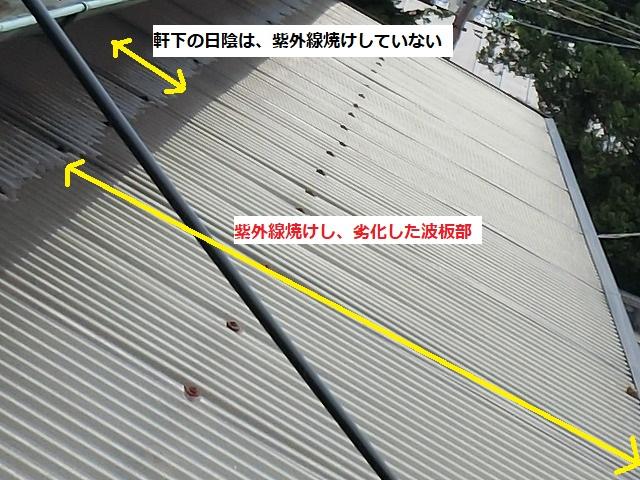 施工前の那珂市のテラス波板