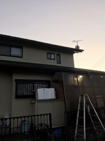 1階北側の交換は陽が落ちる前に完了