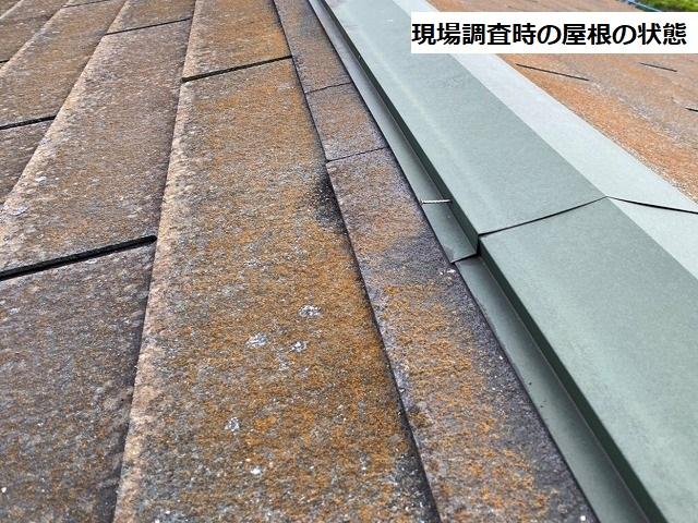 施工前の水戸市内の化粧スレート屋根