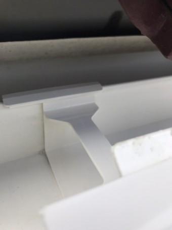 軒樋の連結部に継手を施工