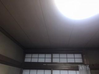 施工が完了した和室の天井