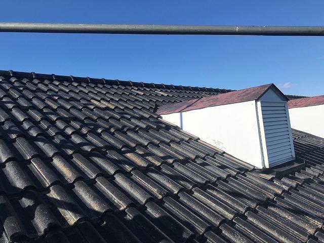 葺き直し屋根工事が完了したドーマー部分
