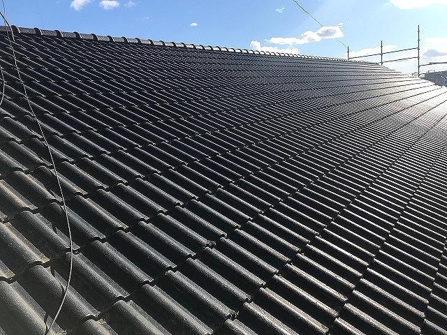屋根工事を行った茨城県内の大きな屋根