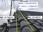 風切丸で覆う袖瓦と桟瓦部分を画像で解説