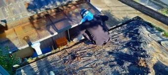 屋根葺き替えの際は雨樋の清掃はセットです