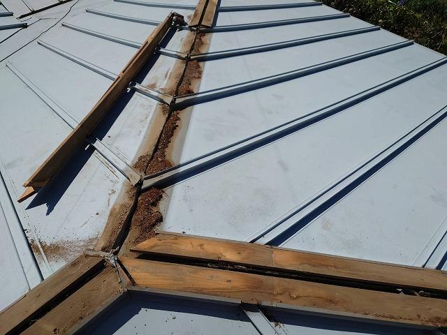 三つ又部分の古い貫板を撤去