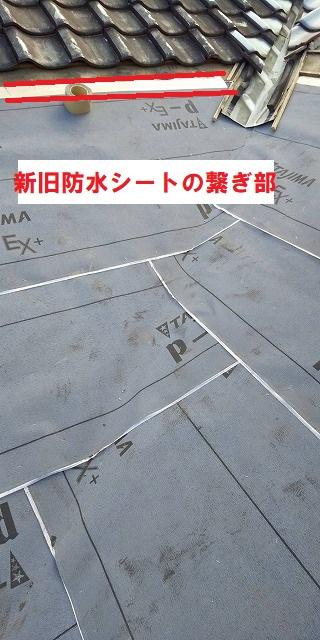腐った野地板を補修し防水シートを貼った画像