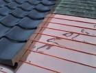 腰葺き銅板屋根と一文字瓦の施工完了