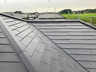 台風被害を受けてスレート屋根をカバー工事完了