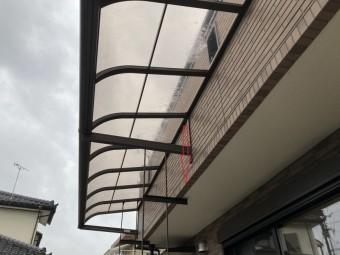 日立市で雨漏りが起きているテラス屋根