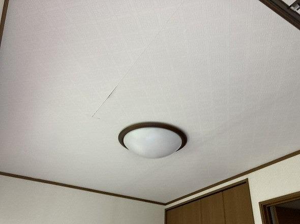 ボード剥がれが起きていた水戸市の現場の天井