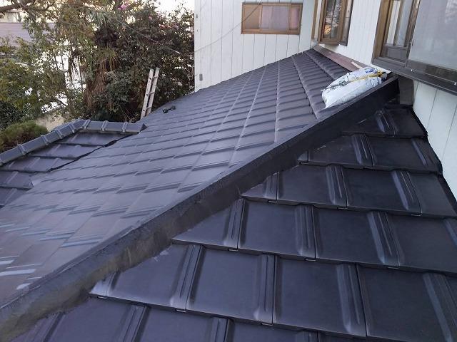 雨漏り補修屋根葺き替え工事後