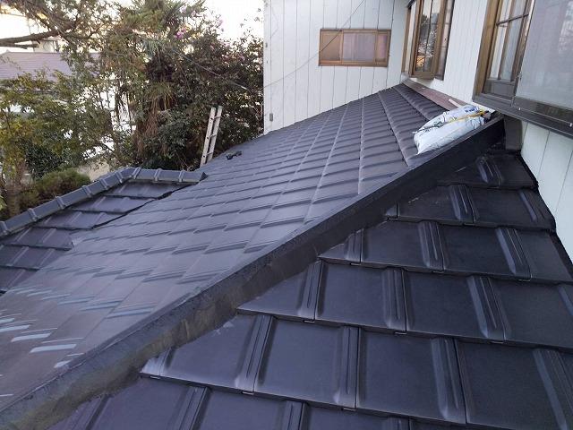 防災瓦トライ1で新しく葺き替えた屋根