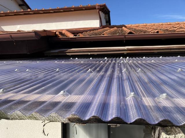老朽化テラス屋根交換工事