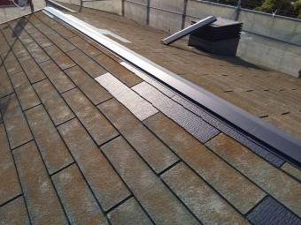 部分的なコロニアル張替えが完了した屋根