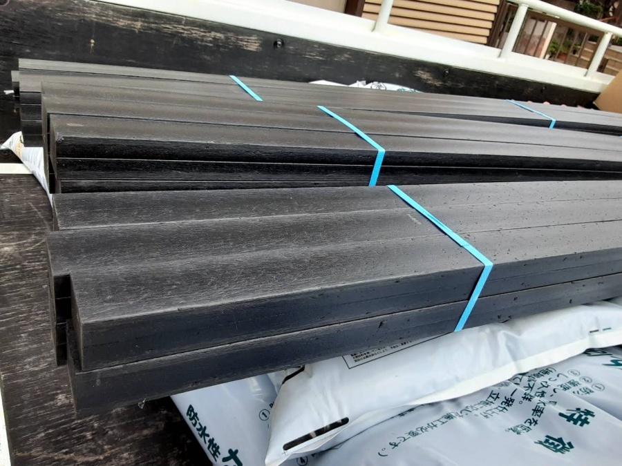 水戸市の強化棟に使用する樹脂製垂木エコランバー