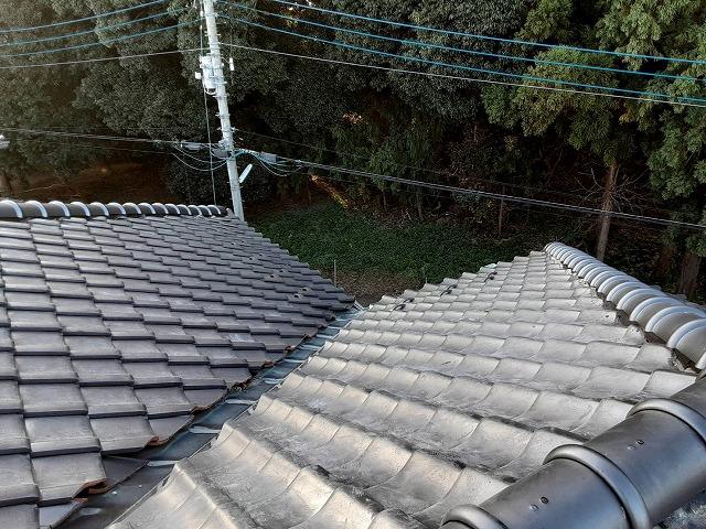 七寸丸一本伏せのガイドライン工法で施工した水戸市内の瓦屋根