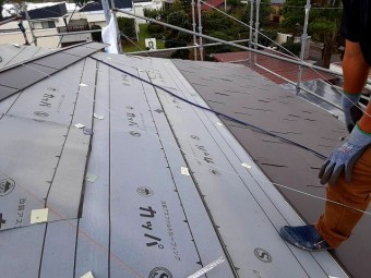 屋根リフォームは順調に進んでいます