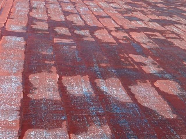 高圧洗浄が完了した水戸市内のスレート屋根
