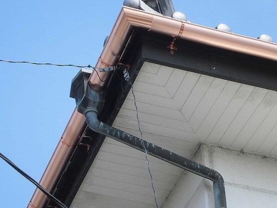 銅製雨樋交換工事