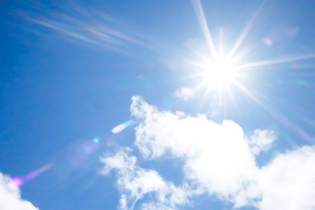 夏の紫外線は強烈