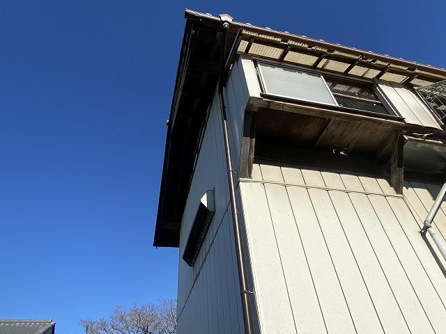 H様鳩小屋雨樋設置