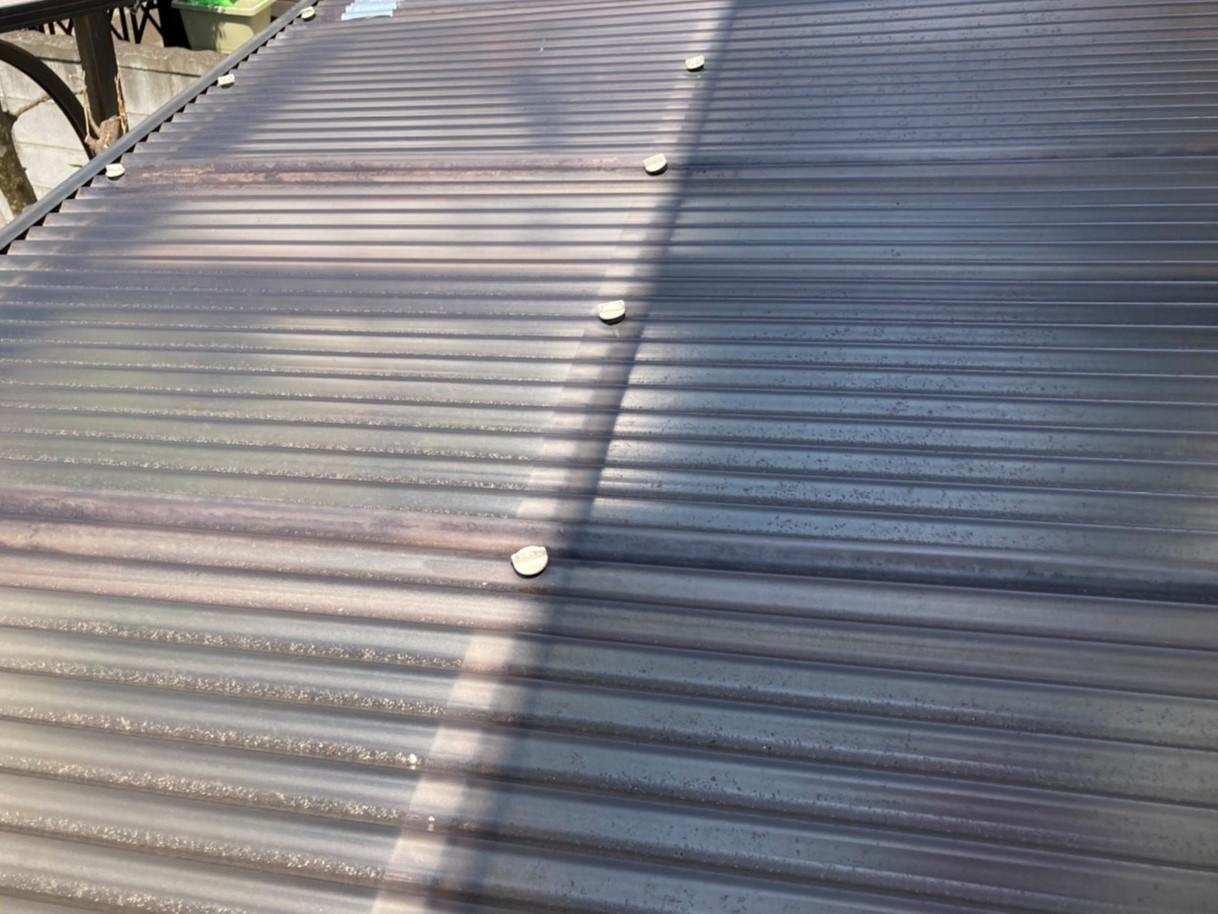 南西テラス波板屋根の改修前