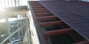 スレート屋根解体