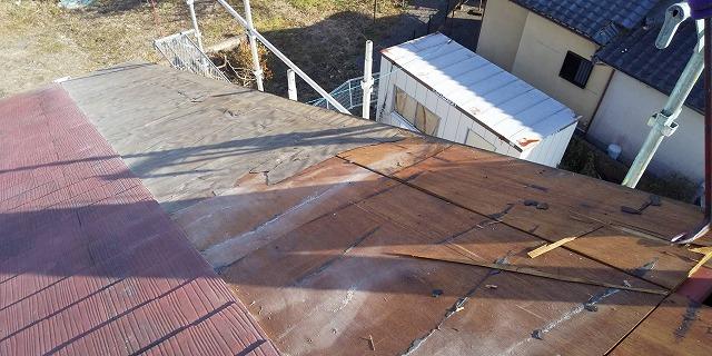 スレート屋根野地板