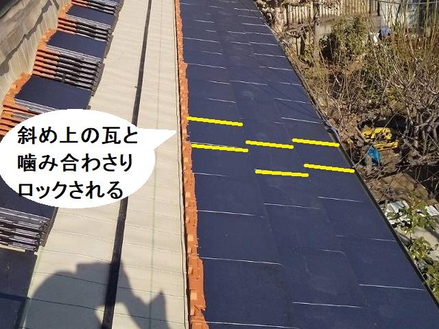 瓦屋根固定方法強化における防災瓦の説明