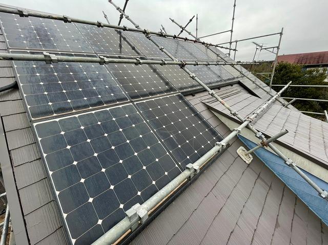 太陽光パネル撤去前の鉾田市の屋根