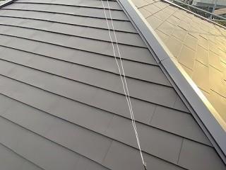 2階の屋根をガルバリウム鋼板でリフォームした水戸市の屋根