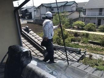 水戸市雨漏り調査で2階屋根の状態を確認する