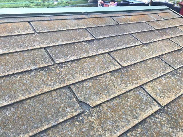 屋根塗装工事が必要なスレート屋根