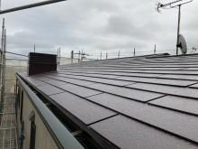 スレート屋根が施工されたパナホームの屋根